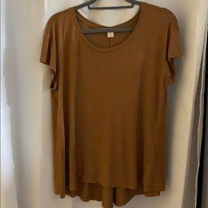 Rust/Brown Flowy short sleeve